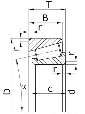 Подшипники роликовые конические однорядные с большим углом конуса