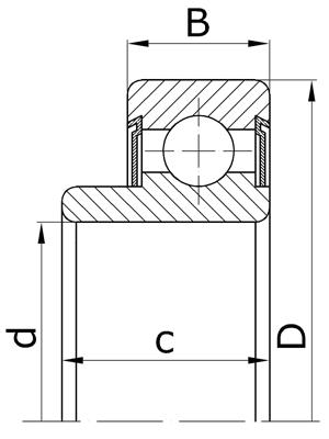 Подшипники шариковые радиальные однорядные с выступающим на одну сторону внутренним кольцом с двухсторонним уплотнением