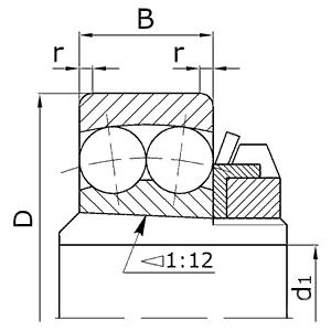 Подшипники шариковые радиальные сферические двухрядные с закрепительной втулкой