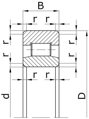 Подшипники роликовые радиальные с короткими цилиндрическими роликами без бортов на внутреннем кольце