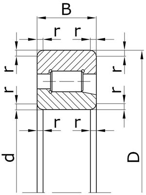 Подшипники роликовые радиальные с короткими цилиндрическими роликами с однобортовым внутренним кольцом