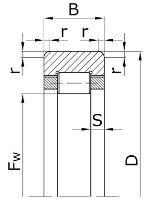 Подшипники роликовые радиальные с короткими цилиндрическими роликами без внутреннего кольца